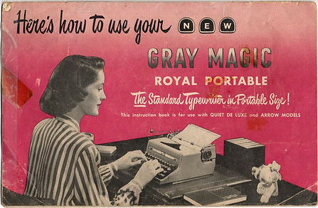 Gray Magic Portable Typewriter Manual Cover