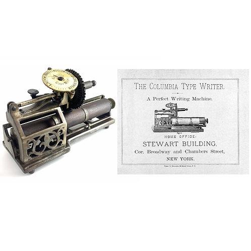 Columbia No.1 Typewriter Instruction Manual
