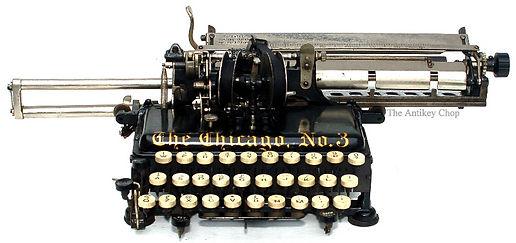 The Chicago No.3 Typewriter