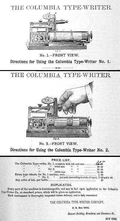 Columbia No.1 Typewriter