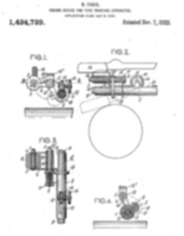 Rofa Typewriter Ink System Patent