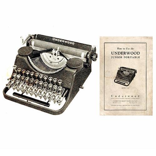 Underwood Junior Typewriter Instruction Manual