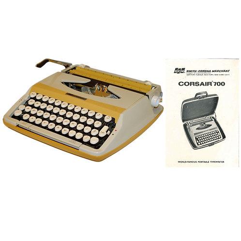 Smith Corona Corsair 700 Typewriter Instruction Manual
