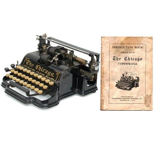 Chicago No.1 Typewriter Instruction Manual