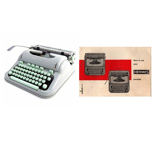 Hermes 3000 Typewriter Instruction Manual