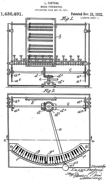 Fortnoi Music Typewirter Patent