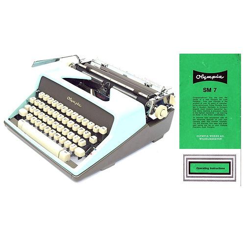 Olympia SM7 Typewriter Instruction Manual