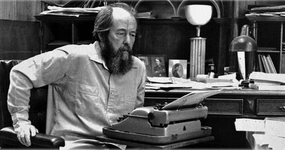 Writer Aleksandr Isayevich Solzhenit