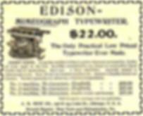 Edison Mimeograph Typewriter Ad