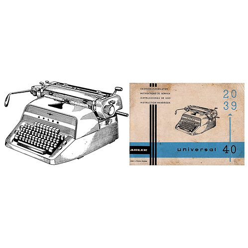 Adler Universal Nos.20, 39 & 40 Typewriter Instruction Manual