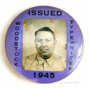 Woodstock Typewriter Factory Employee ID Badge