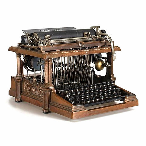 Rem-Sho Bronze Typewriter