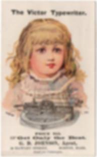 Victor Typewriter Trade Card