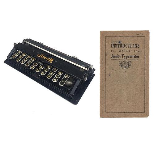 Junior Typewriter Instruction Manual