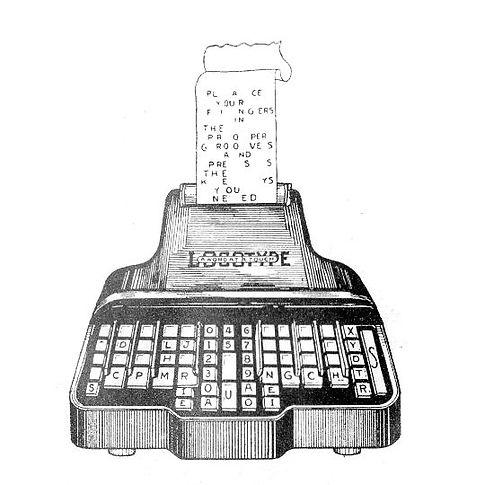 Logotype Stenograph Typewriter