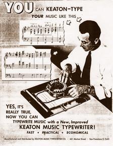 Keaton Music Typewriter Trade Catalog 01