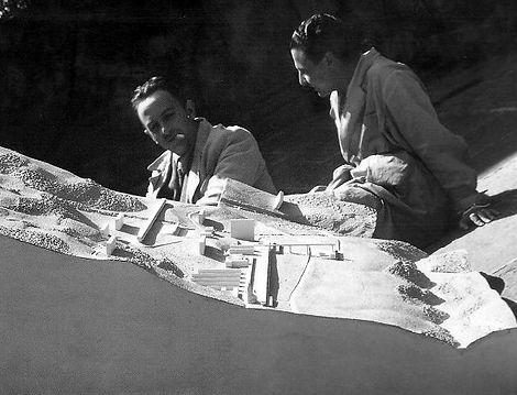 Architects Luigi Figini and Gino Pollini