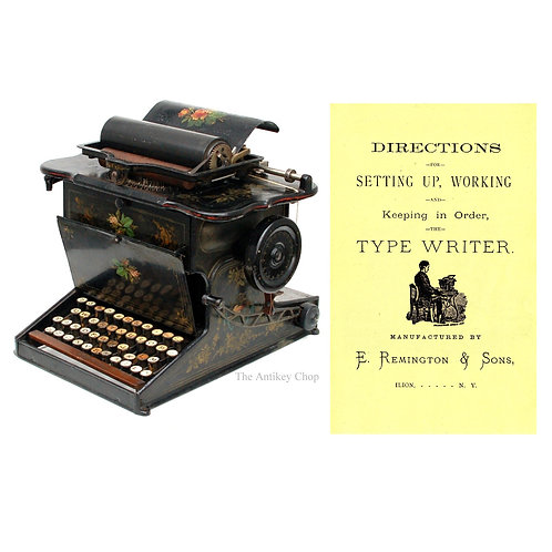 Sholes & Glidden Typewriter Instruction Manual
