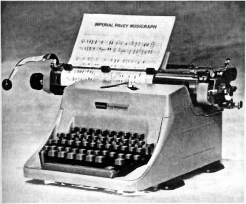Imperial Pavey Musigraph Music Typewriter