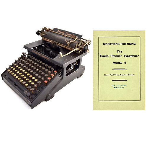 Smith Premier No.10 Typewriter Instruction Manual