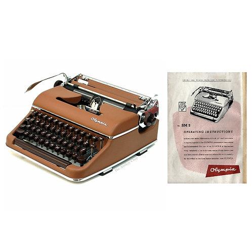 Olympia SM3 Typewriter Instruction Manual