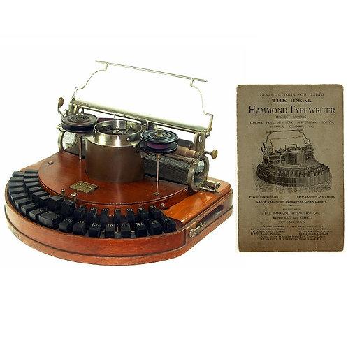 Hammond No.1 Typewriter Instruction Manual