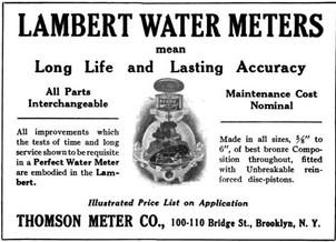 Lambert Water Meter Ad