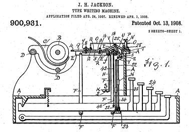 Jackson Typewriter Canadian Patent
