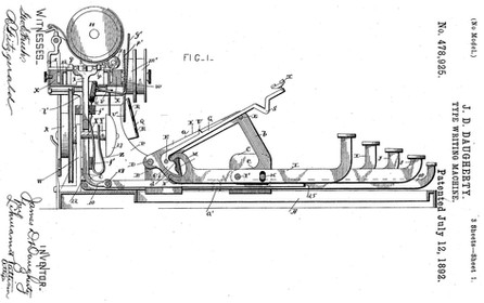 Daugherty Typewriter Patent