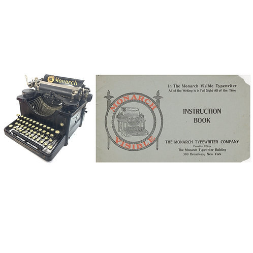 Monarch No.2  Typewriter Instruction Manual