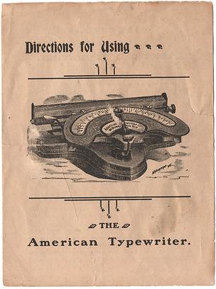 American No.2 Typewriter Instruction Manual