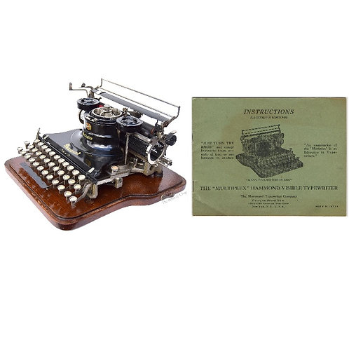 Hammond Multiplex 2nd Model Typewriter Instruction Manual