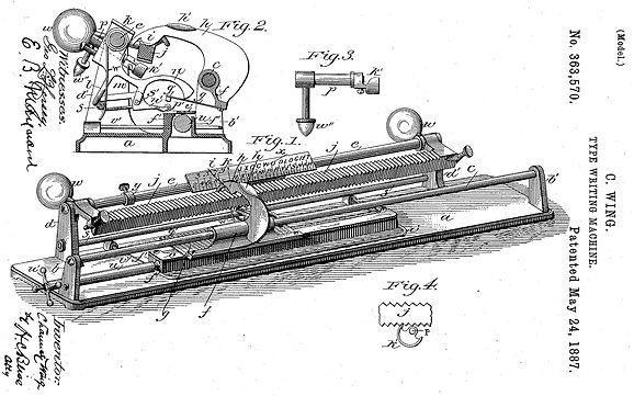 U.S. Typewriter Patent