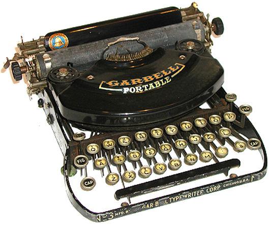 Garbell Portable Typewriter