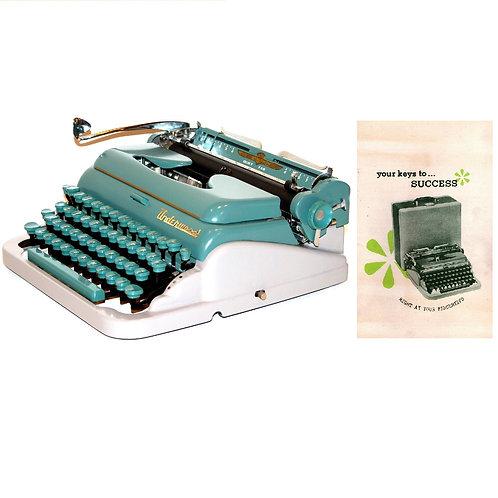 Underwood De Luxe Quiet Tab Typewriter Instruction Manual