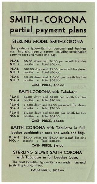 Gorham Corona Typewriter Ad