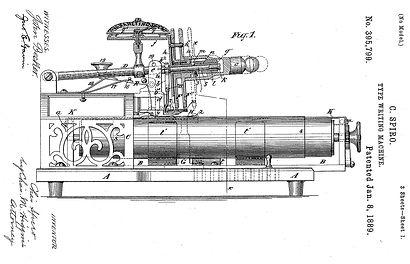 Columbia No.2 Typewriter Patent