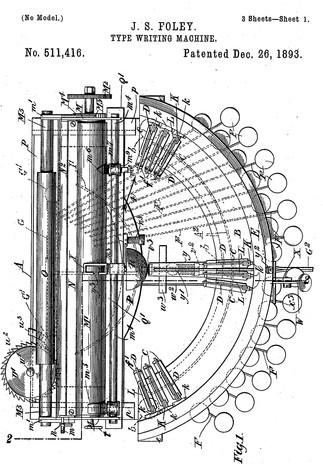 Salter Typewriter Patent