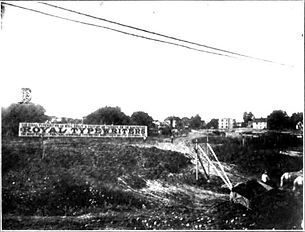 Future Site of Royal Typewriter Factory in Hartford, Connecticut