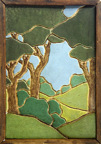 Hartford Faience Tile Wods and Hills