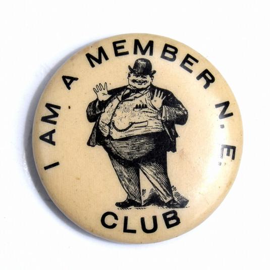 Fat Men's Club Pinback