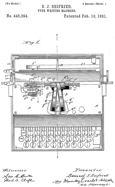 The Chicago No.3 Typewriter Patent