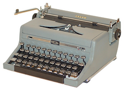 Royal Arrow Gray Magic Portable Typewriter