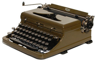 Green Royal Touch Control Portable Typewriter