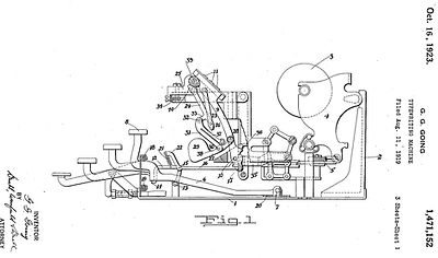 The Noiseless Portable Typewriter Patent