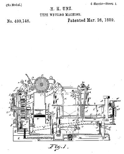 National Typewriter Patent