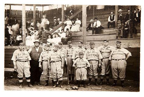 Fat Mens Club Fat Mens Amusement Co Baseball Team