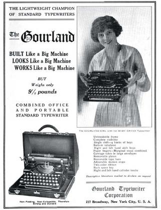 Gourland Typewriter Ad