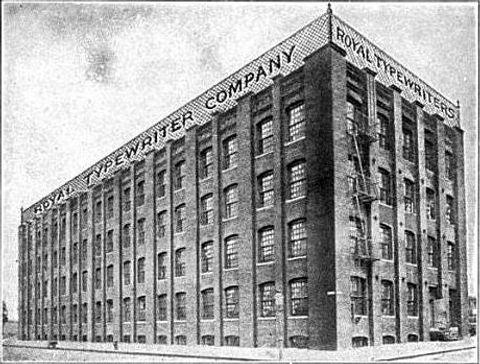 Royal Typewriter Factory in Brooklyn, New York