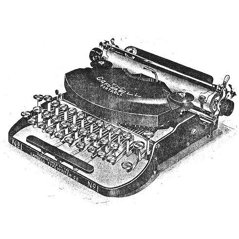 The Garbell Portable Typewriter